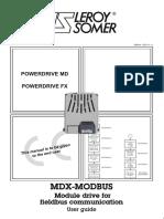 MDX Modbus - Leroy Somer - 2011