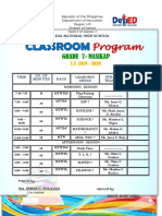 My Classroom & Teachers Program 2ND YEAR