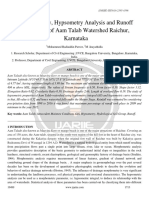 Morphometry Hypsometry Analysis and Runoff Estimation of Aam Talab Watershed Raichur Karnataka Ijariie10499