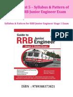 Disha Publication Syllabus Pattern for RRB Junior Engineer Stage 1 Exam. CB1198675309