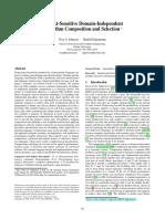 Context-Sensitive Domain-Independent Algorithm Composition and Selection