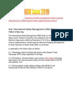 ASM June 2019 ISM Manual