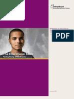 Educational Crisis Facing Young Men of Color[1]