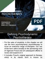 Chapter 12- Psychodynamic Psychotherapy