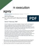 Program Execution Agility