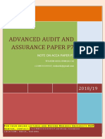 Advanced Audit and Assurance Paper p7 Updated