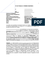 Contrato Auxiliar Administrativo de Consultorio Medico
