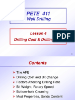 4. Drilling Cost and Drilling Rate