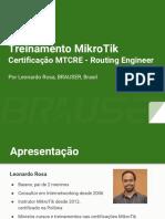 BAUSER - MTCRE - Treinamento em português Brasil