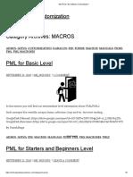 MACROS _ 3D Software Customization