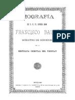 Biografia de Francisco Bouza Ministro de Gobierno de La Republica Oriental Del Uruguay
