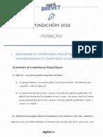 Francais - Brevet - Pondichéry 2018 Français 3e - PINNEUR .docx