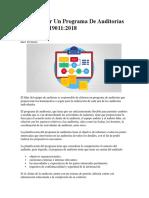 Cómo Hacer Un Programa de Auditorías Según ISO 19011