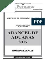Ley de Aduanas Aranceles.