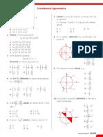 Ficha de Refuerzo - Circunferencia Trigonométrica