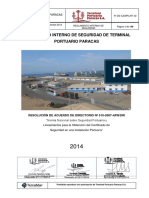 Reglamento Seguridad Terminal Portuario Paracas
