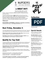 Walkathon Newsletter 10-29-10