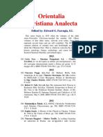 Orientalia Christiana Analecta 1