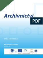 Úvod Do Archivnictví - Štouračová (2013)
