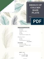 Design of Column Base Plate