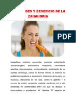 Beneficio de La Zanahoria