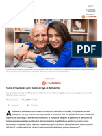 Siete Actividades Para Tener a Raya Al Alzheimer
