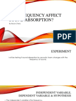 Can Frequency Affect Sound Absorption