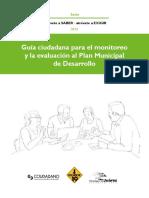 Guía ciudadana para el monitoreo y la evaluación al Plan Municipal de Desarrollo