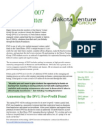 Dakota Venture Group Spring 2007 Newsletter