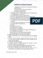 Checklist of Mining Proposals(1)