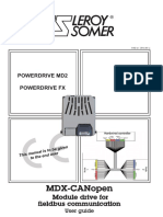 MDX CANopen - Leroy Somer - 2014
