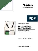 MDX Encoder and MDX Resolver - Leroy Somer - 2017
