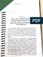 Acerca de La Especificodad de La Psicopatologi Infancia