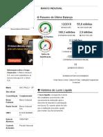 Banco Indusval - RELATORIO 2019