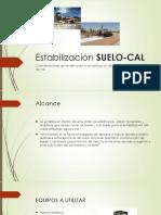Estabilización SUELO CAL
