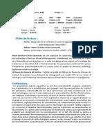Intégration de La Veille Dans Le Système Organisationnel de l%u2019entreprise. Quels Enjeux Pour l%u2019innovation
