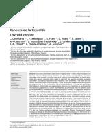 EMC - Endocrinologie Volume 2 Issue 1 2005 [Doi 10.1016_j.emcend.2004.10.003] L. Leenhardt; F. Ménégaux; B. Franc; C. Hoang; S. Salem; M.-o. -- Cancers de La Thyroïde