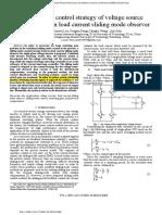 Sliding mode control strategy of voltaje source