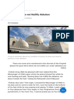 Actions That Do Not Nullify Ablution