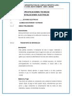 ESPECIFICACIONES TÉCNICAS-ELECTRICAS