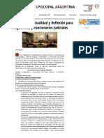 Encuentro de Espiritualidad y Reflexión Para Magistrados y Funcionarios Judiciales
