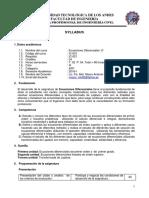Ing. Civil Sílabo Ecuaciones Diferenciales-B 2016-I