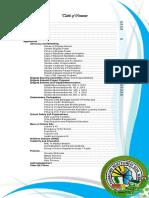 Sample BRIGADA ESKWELA Table of Contents