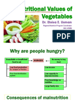 Nutritional Values of Vegetables