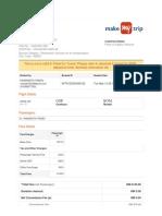 SpiceJet_E-ticket_PNR OYFIKZ - 12 May 2019 Gorakhpur-Mumbai for MR. YADAV