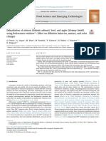 Deshidratación Del Salmón (Salmón Del Atlántico ), Carne de Res y Manzana ( Granny Smith ) Usando Refractance Window