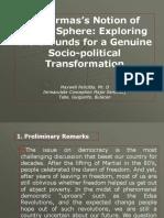 Public Sphere and Socio Political Transformation Guiguinto