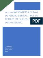 Zonas Sísmicas y Curvas de Peligro Sísmico