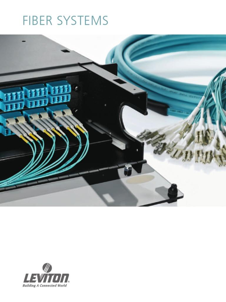 Leviton 62DLC-M03 Fiber Patch Cord 62.5//125um Multimode Duplex LC to LC 3 Meters