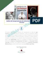 Ejemplo 1 Informe-comportamiento No Verbal. Papa Francisco